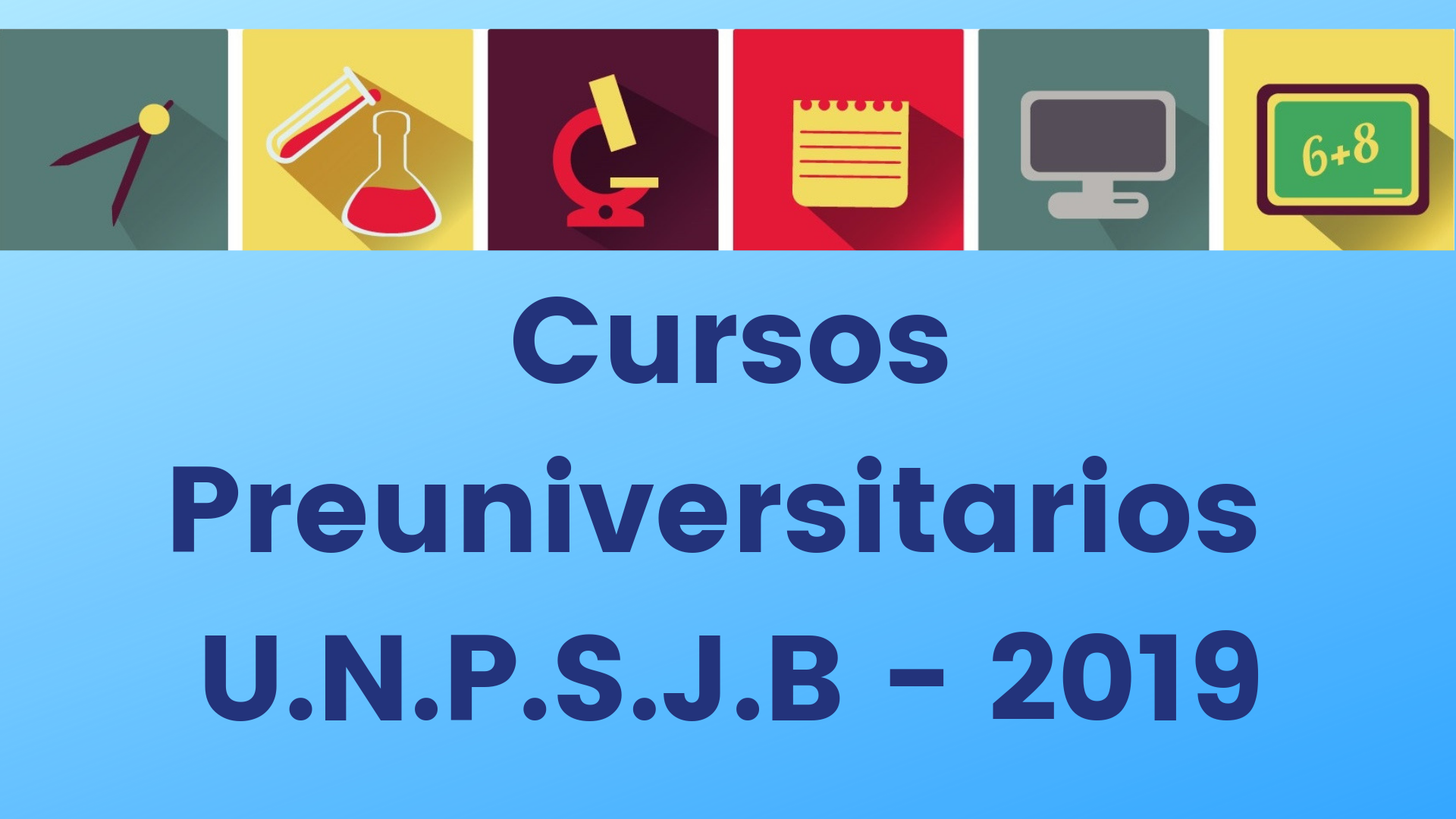 Inscripción para Cursos Preuniversitarios 2019
